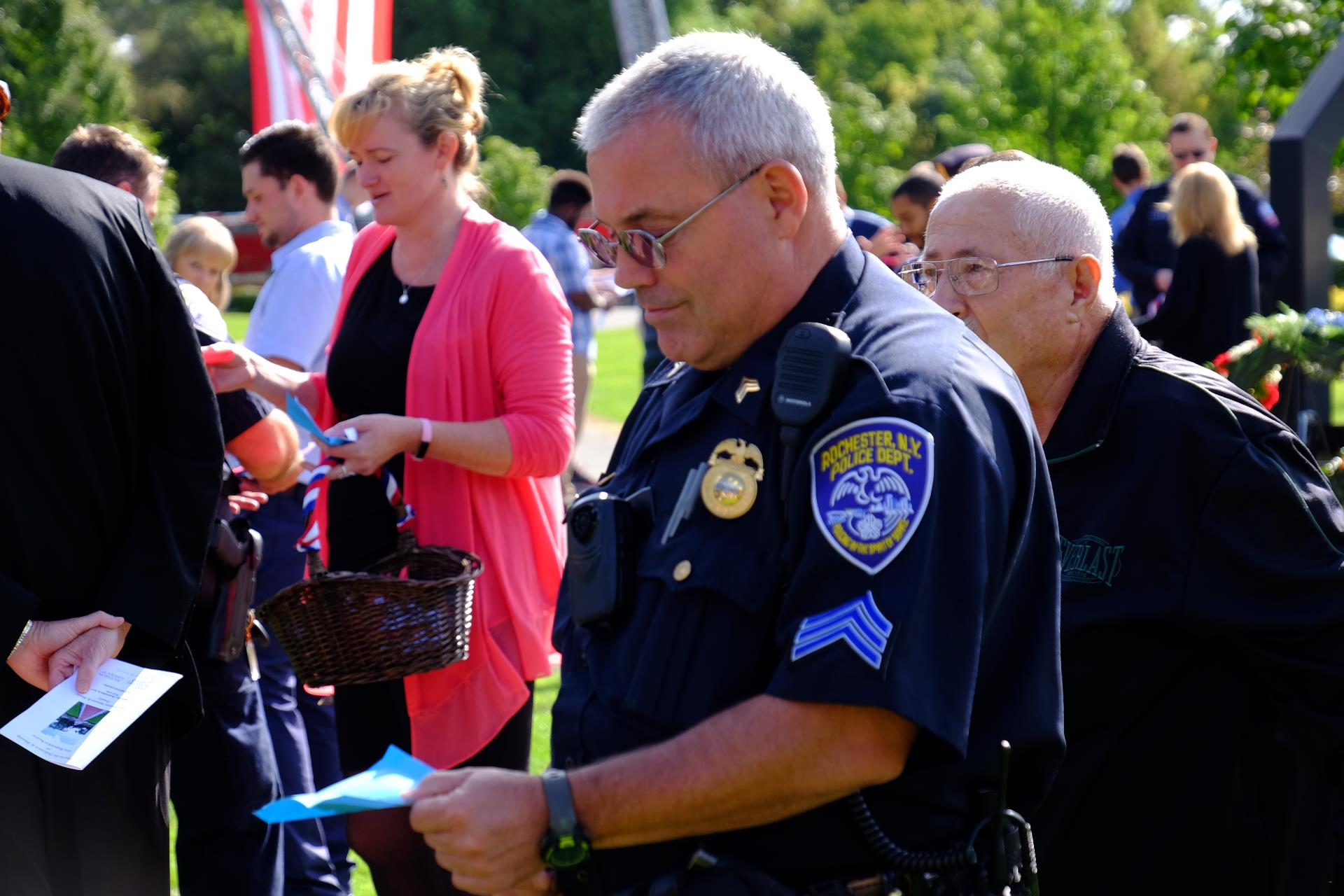 Police officer at an event